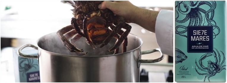 Agua de Mar para cocinar Marisco en Navidad